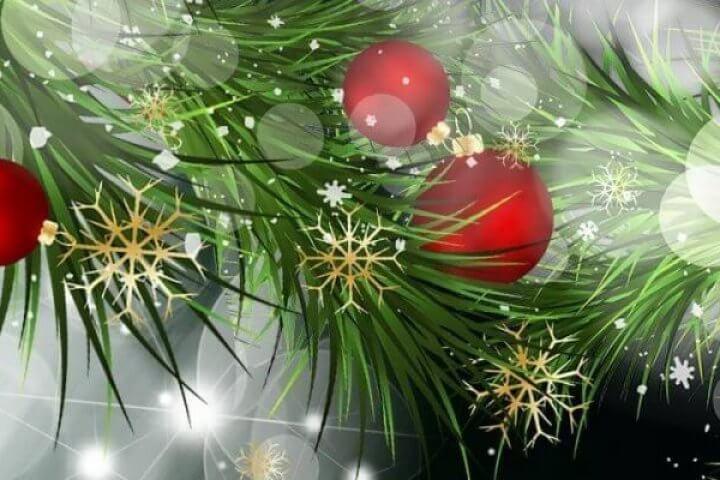 Pine, Snowflakes, Christmas Ornaments