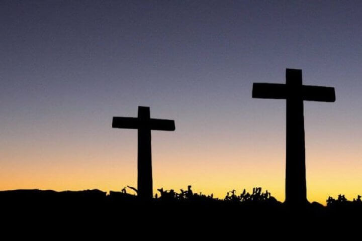 Three Crosses At Dawn