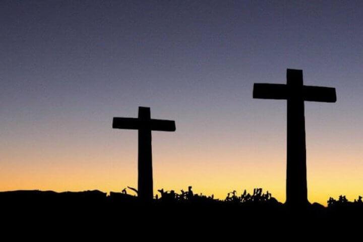 Three Crosses At Dawn